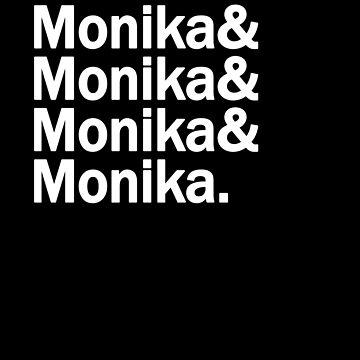 DDLC - Monkia Monika Monika Monika - Doki Doki Literature Club by bestnevermade