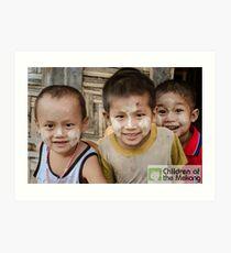 Kids by JM Gautier Art Print