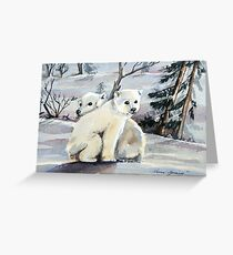 Polar Cubs Greeting Card