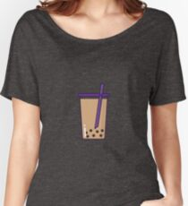 Minimalist Bubble Tea Women's Relaxed Fit T-Shirt