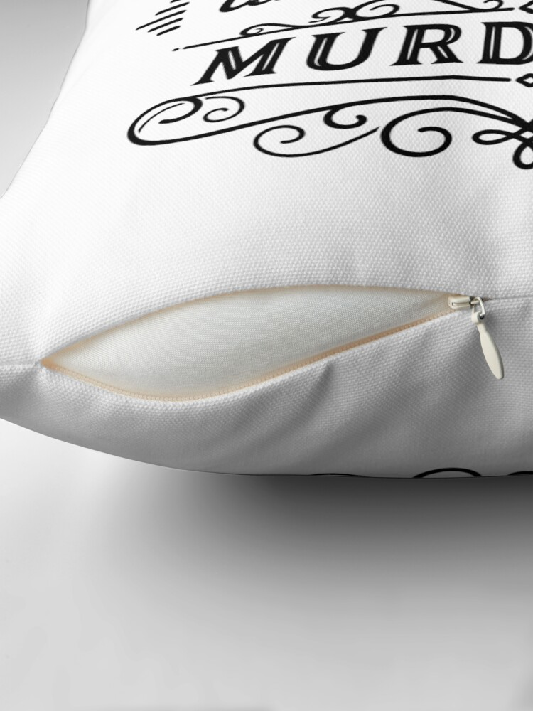 Alternate view of SSDGM - Black and White Throw Pillow