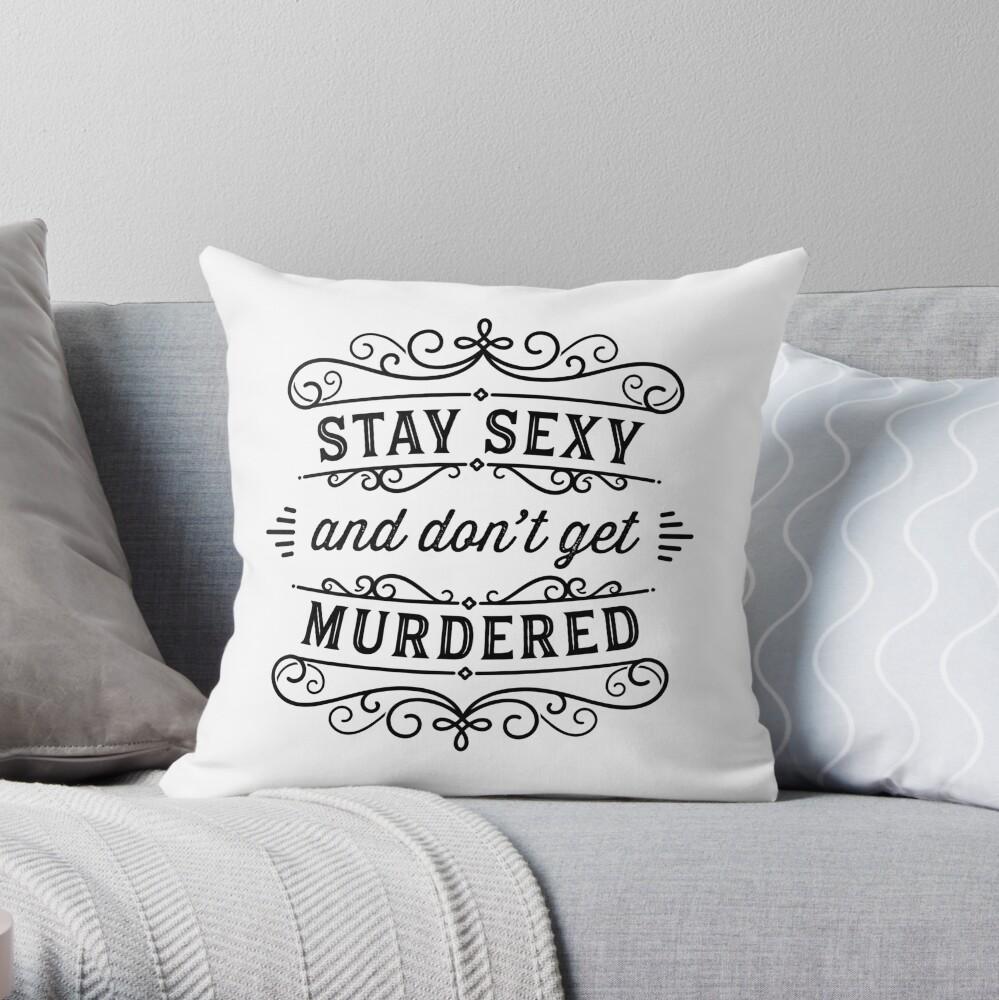 SSDGM - Black and White Throw Pillow