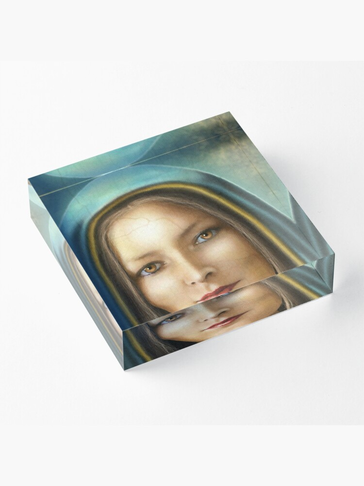 Alternate view of Mother Mary Acrylic Block
