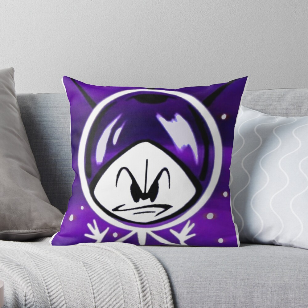 Colonel Bleep In Retro Outer Space. Throw Pillow