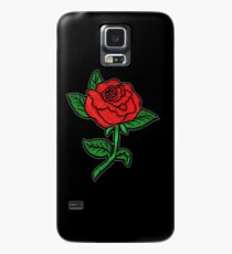 Rose Patch Black Case/Skin for Samsung Galaxy