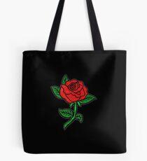 Rose Patch Black Tote Bag