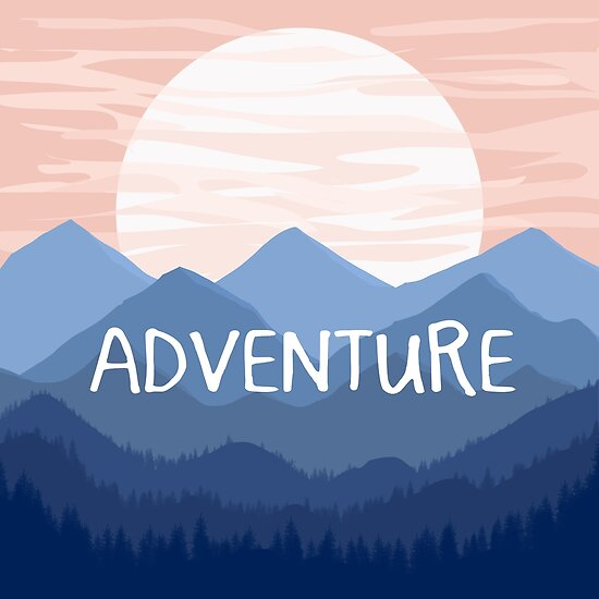 Adventure Sunset Vector Landscape by julieerindesign