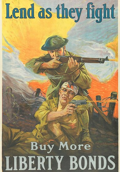 ww1 propaganda poster wounded us soldier illustration by critterville