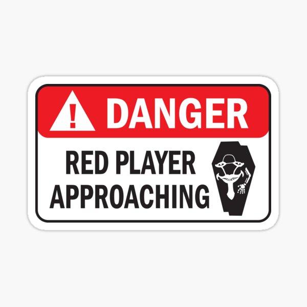 DANGER  - Red Player Approaching - SAO Sword Art Online Sticker