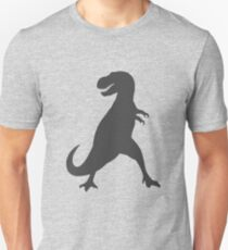 T-Rex in Charcoal Unisex T-Shirt