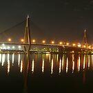 Anzac Bridge at Night by SeeingTime