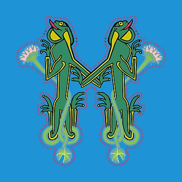 Medieval Frog letter M by Donnahuntriss
