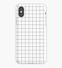 Black Grid iPhone X Case