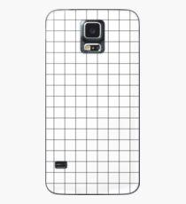 Black Grid Case/Skin for Samsung Galaxy