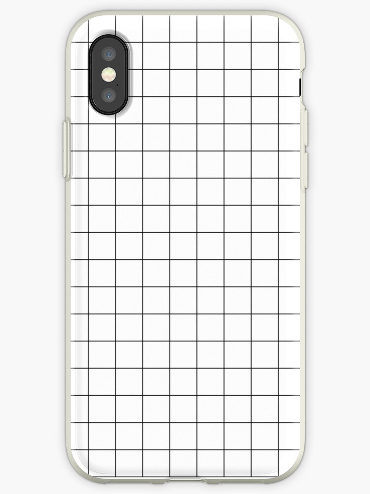 best service 0089a bc5a1 'Black Grid' iPhone Case by LazyQueen