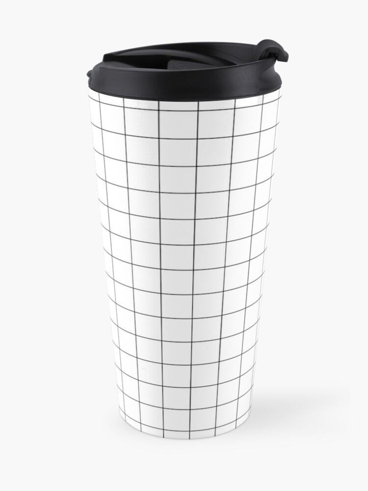 Alternate view of Black Grid Travel Mug