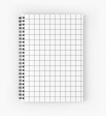 Black Grid Spiral Notebook