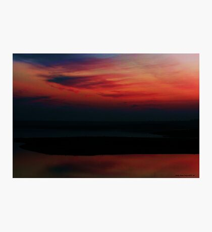 A Blood Red Sky Photographic Print