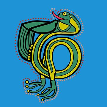 Frog Alphabet Letter T by Donnahuntriss