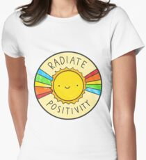 Radiate Positivity Women's Fitted T-Shirt