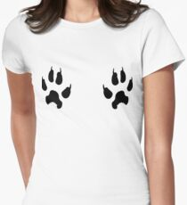 animal tracks leo Womens Fitted T-Shirt