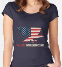 4th July Independence Day Women's Fitted Scoop T-Shirt