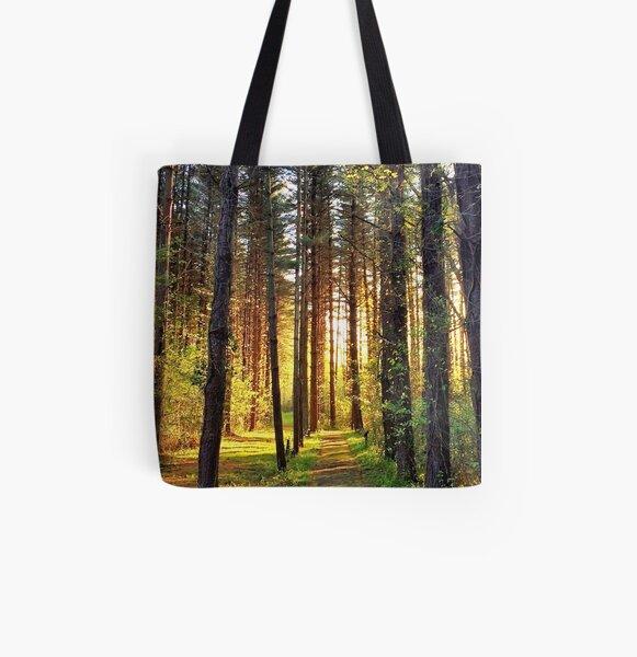 Blackbird Forest Sunrise All Over Print Tote Bag