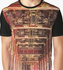 Red Asian Palace Graphic T-Shirt