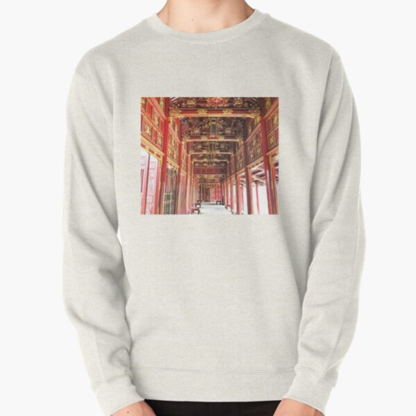 Red Asian Palace Pullover Sweatshirt