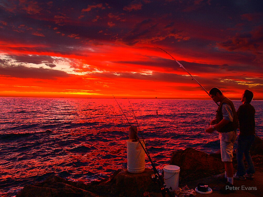 Sun Gone, Gone Fishing by Peter Evans