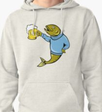 Retro Fishing and Beer T Shirt Pullover Hoodie