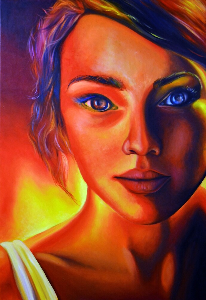 Cause love is war, 120-80cm, 2017, oil on canvas by oanaunciuleanu