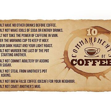 MUG 10 Commandments of Coffee by knollgilbert