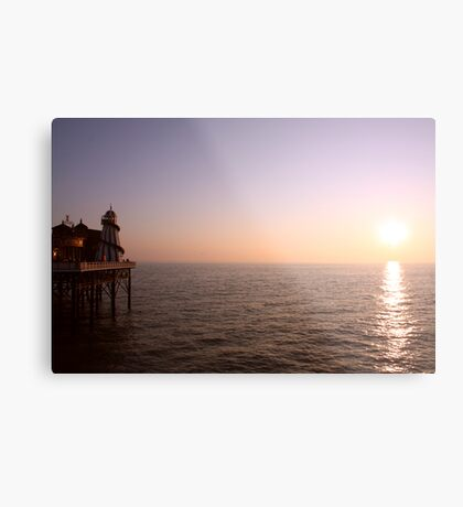 Sunset ~ New Brighton Pier Metal Print