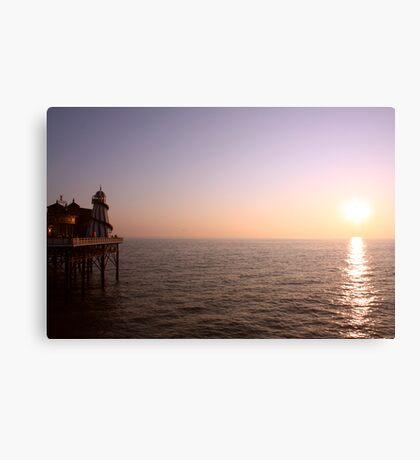Sunset ~ New Brighton Pier Canvas Print