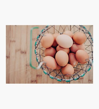 Eggs in a Basket Photographic Print