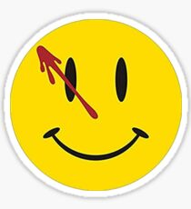 Alan Moore Watchmen Comic Smiley Face Sticker