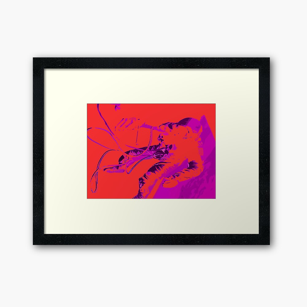 Space Series : Gemini EVA 1 Abstract Red [#2] Framed Art Print