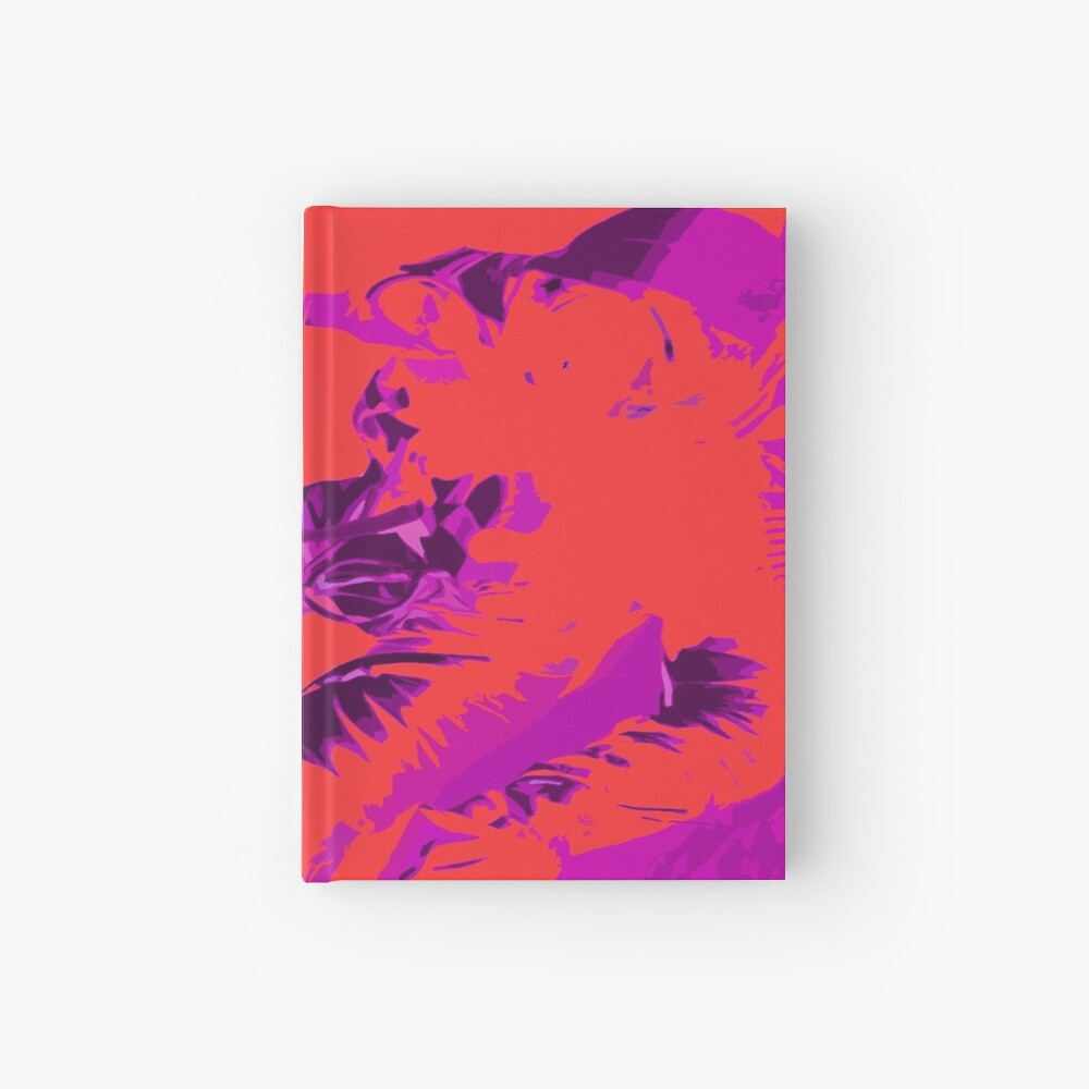 Space Series : Gemini EVA 1 Abstract Red [#2] Hardcover Journal