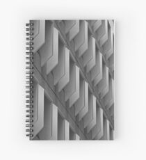 Abstract exterior Spiral Notebook