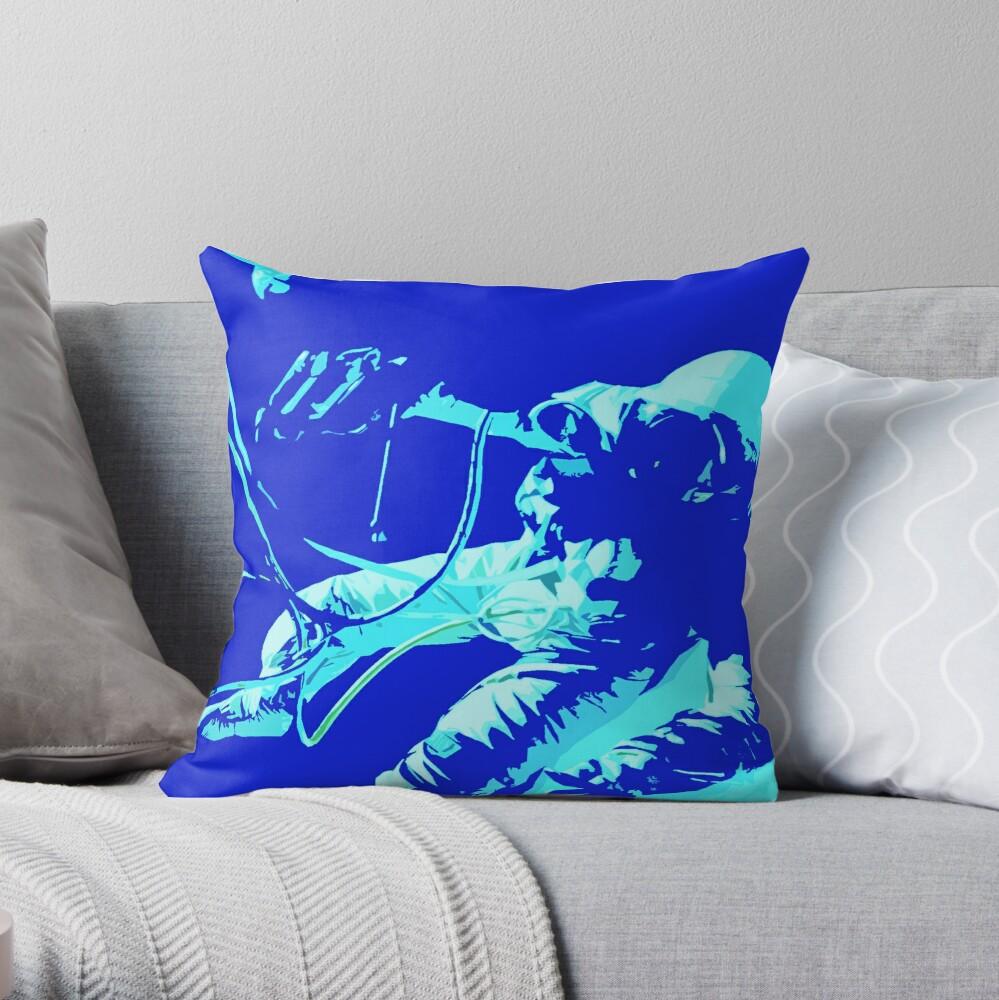 Space Series : Gemini EVA 1 Abstract Indigo[#2] Throw Pillow