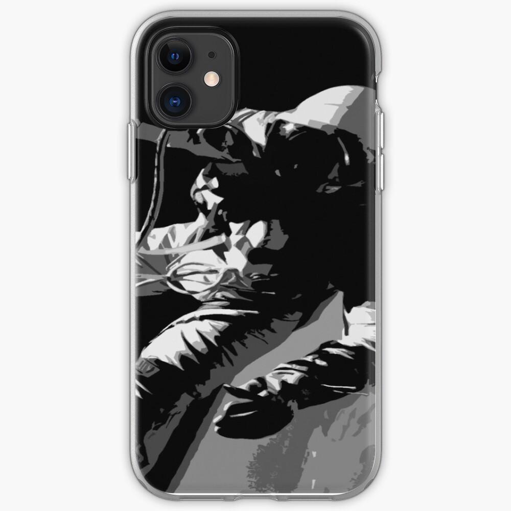 Space Series : Gemini EVA 1 Abstract Black [#1] iPhone Soft Case