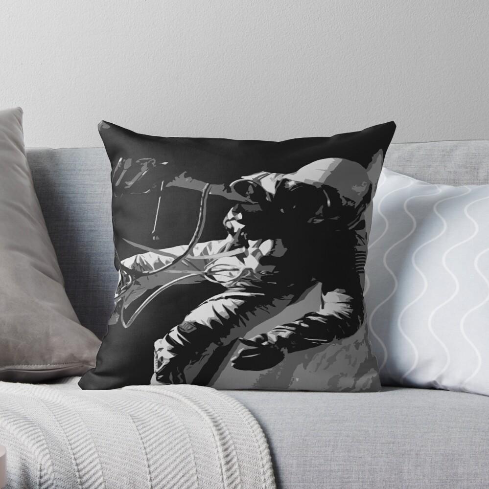 Space Series : Gemini EVA 1 Abstract Black [#1] Throw Pillow
