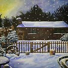 Snow Covered Garden Shed by artistwarriorlg