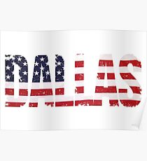 Dallas in US Flag Poster