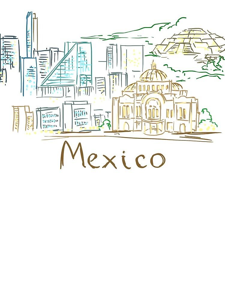 Panorama de la ciudad de México en la noche de MichaelRellov