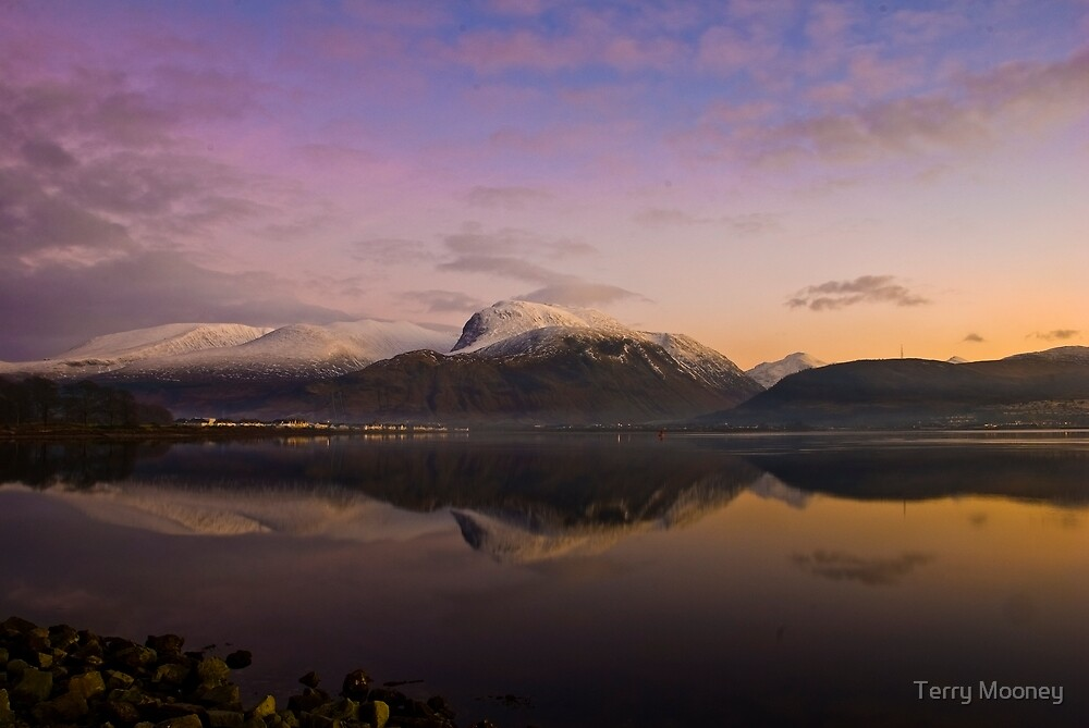 Ben Nevis at twighlight by Terry Mooney