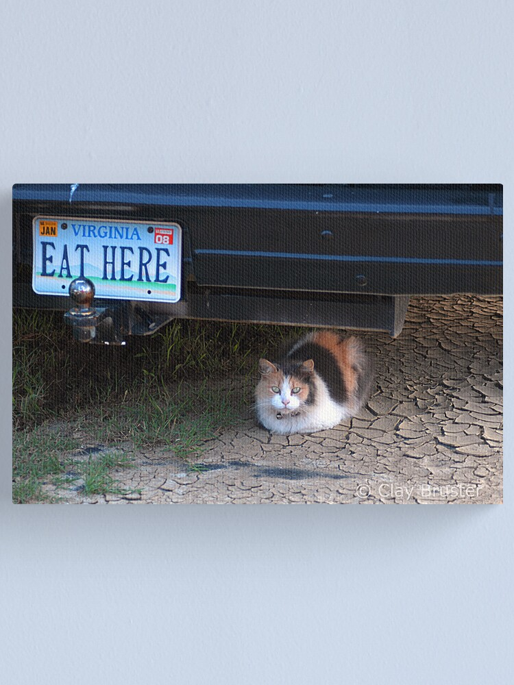 Alternate view of Eat Here Canvas Print