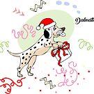 Funny Dalmatian Dog Sketch by Natalia Piache