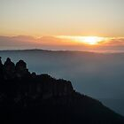 Three Sisters Sunrise, Blue Mountains, NSW, Australia by GeorgeOne